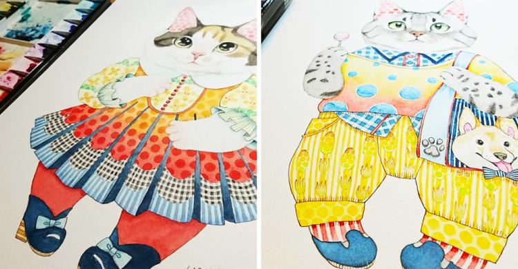 ネコ好きな作家さんが描く、ファンタジーなネコの世界が想像以上に素敵だった(´ω`*)♡