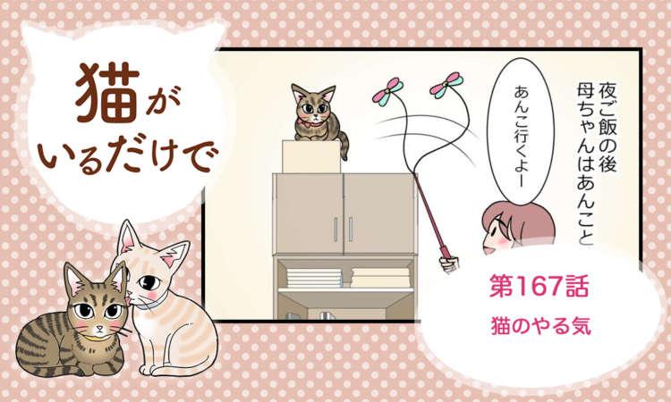 【まんが】第167話:【猫のやる気】まんが描き下ろし連載♪ 猫がいるだけで(著者:暁龍)