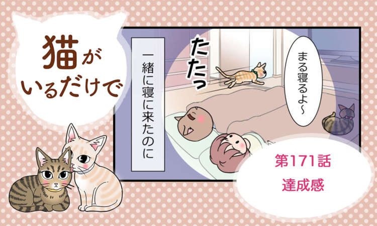【まんが】第171話:【達成感】まんが描き下ろし連載♪ 猫がいるだけで(著者:暁龍)