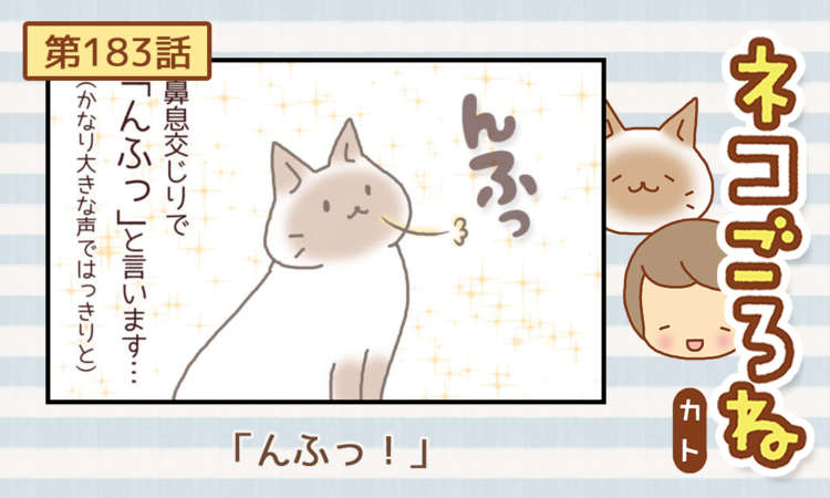 【まんが】第183話:【「んふっ!」】まんが描き下ろし連載♪ ネコごろね(著者:カト)