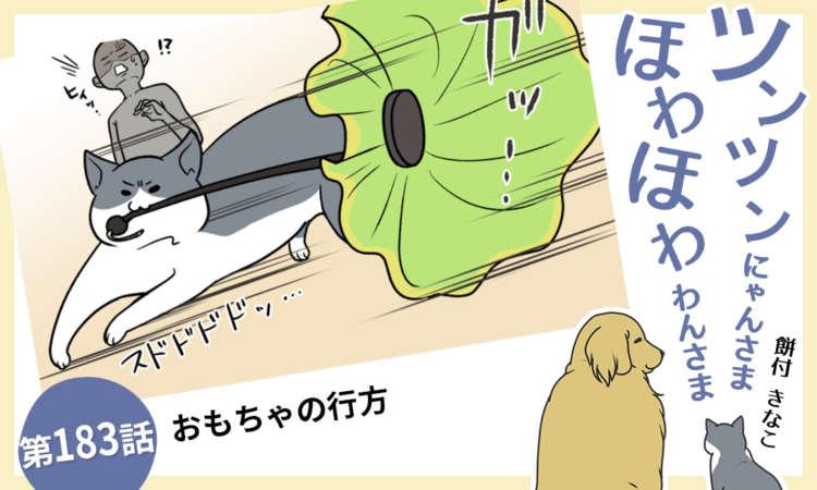 【まんが】第183話:【おもちゃの行方】まんが描き下ろし連載♪ ツンツンにゃんさま ほわほわわんさま