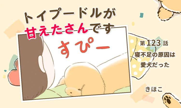 【まんが】第123話:【寝不足の原因は愛犬だった】まんが描き下ろし連載♪トイプードルが甘えたさんです
