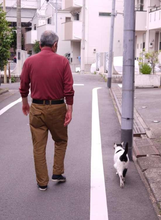 重吉さんとキュウ君は仲良くお散歩